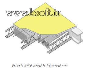 سقف با تیرچه فولادی با جان باز